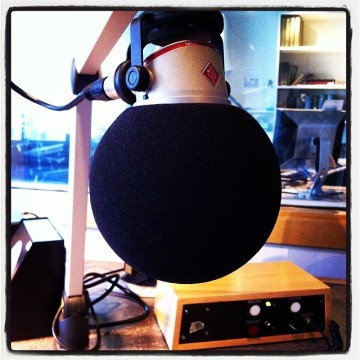 The CBC NXNW microphone! Is it not round and beautiful?